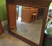 large wood frame mirror