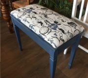 painted upholstered bench
